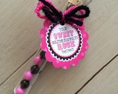 """Cheerleading Good Luck Favor Tags- PDF file Instant Download- Cheer Gift """"Sweet Routine"""""""