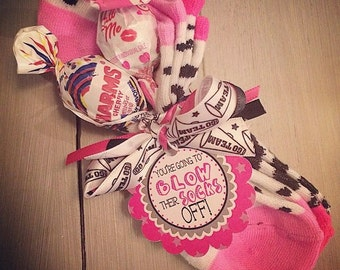 Cheerleading Good Luck Favor Gifts- Blow Their Socks Off