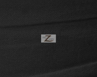 """Solid Flannel Fabric - BLACK - 60"""" Width Sold By The Yard"""