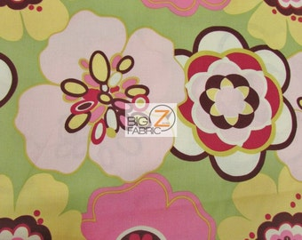 "100% Cotton Fabric By Alexander Henry - Kleo Floral - Sold By The Yard  - 45"" Width (FH-1206)"