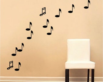 Music Decals, Music Room Vinyl Stickers, Music Note Wall Decals, Music Decor ,