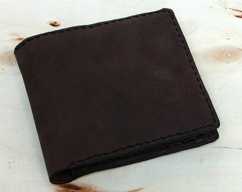 Simple bifold wallet handcrafted