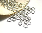 50/100 Silver Plated Jump Rings 6mm, Closed Loop - 7-12
