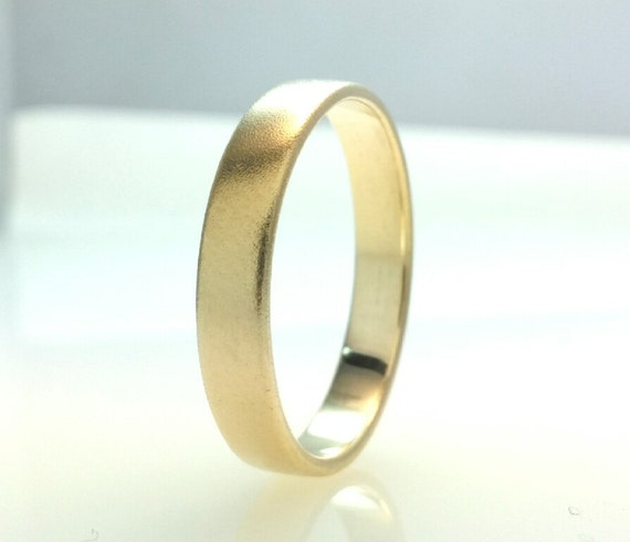 Recycled 14k Gold Wedding Band RingHard Matte Polish By Vaptism