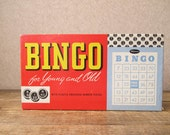 Vintage Bingo game in original box / Party game for 20, holiday gift, all pieces included