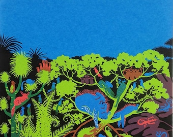 Colour Jungle screenprint