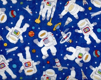 Items similar to outer space fabric panel rocket quilt for Outer space fabric by the yard