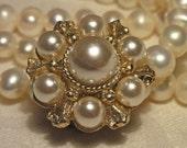 Vintage Gifts, Pearl Earrings, Vintage Bridal Earrings, Vintage Wedding Earrings,  Vintage Pearl Earrings Marked Japan Old Hollywood Style,