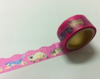 round top  Meganai /  Masking Tape / cat RT-MKM-009/ 20mm x 5M