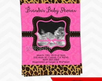 Leopard Baby Shower Invitation