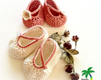 Summer Mary Jane Booties for Baby Girl, Crochet Pattern PDF 12-031 INSTANT DOWNLOAD