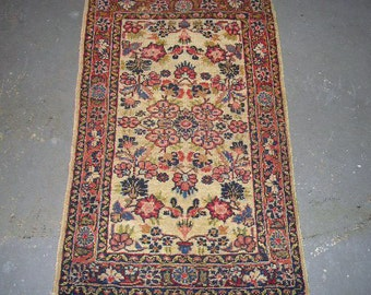 Persian Rug - 1930s Antique Hand-Knotted Hamadan/Dargazin Persian Rug (3051)