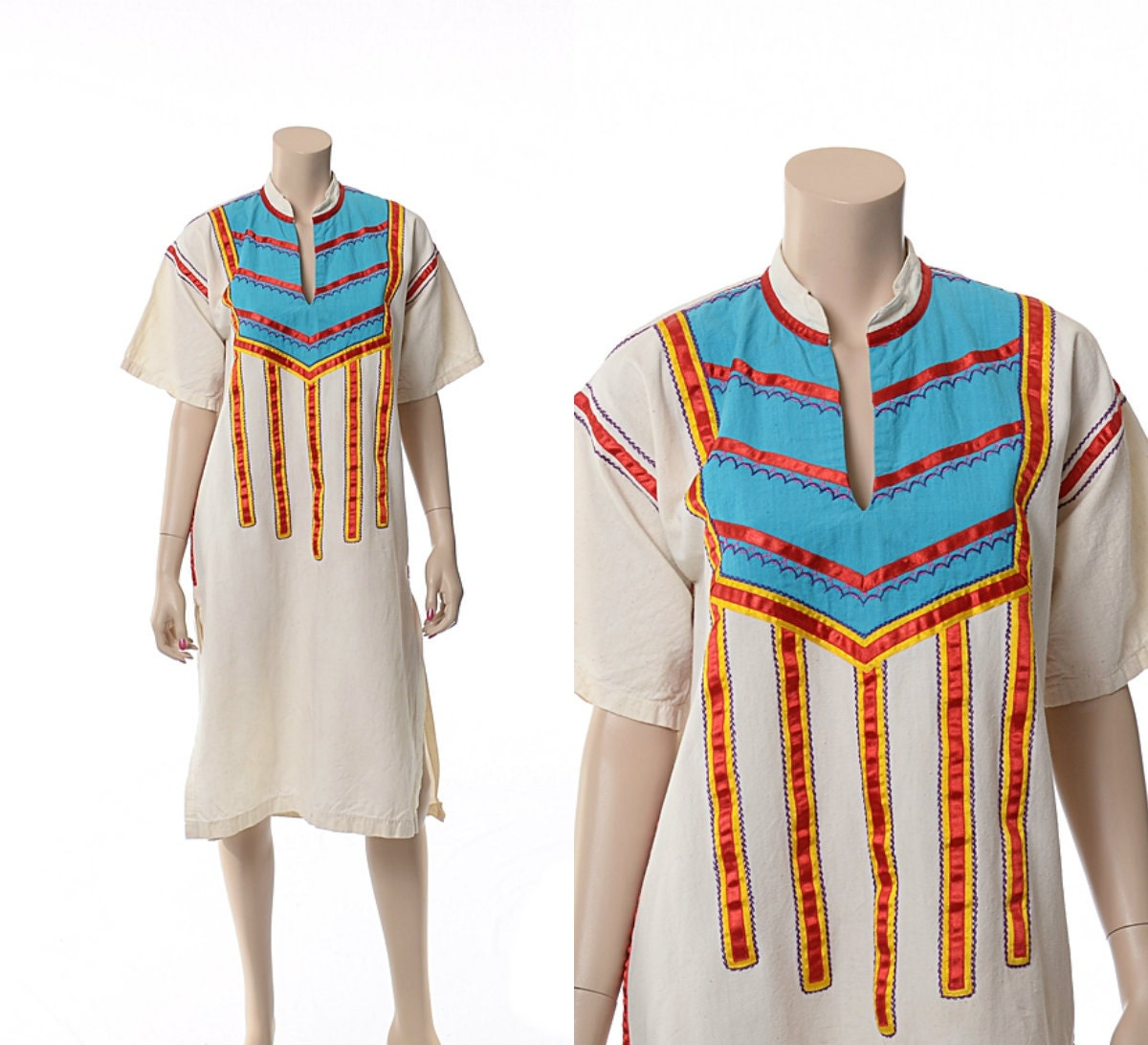 Vintage s jobea embroidered mexican dress by