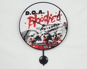Vinyl Record Disc Clock, Record, Wall Clock with Pendulum, Handmade, DOA Bloodied but Unbowed,Geekery, Clocks by DanO