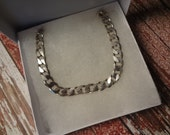Silver Cuban Chunky Chain Necklace 925 Sterling Silver Mens 22 Inch Thick Bold Heavy Birthday Gift 8mm Italy Valentines Day Anniversary Gift