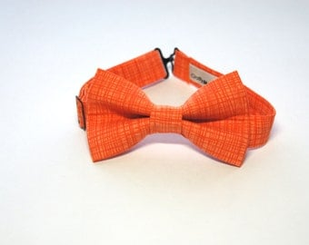 Bow Tie - Orange w/ Dark Orange Lines Bowtie