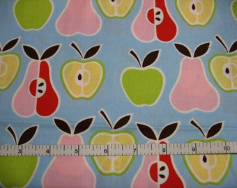 1 Yard, Apples + Pears Blue Alexander Henry Fabric