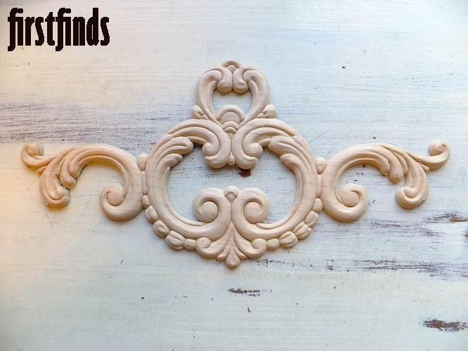 Wood Applique Large Oyster Furniture Embellishment Door Drawer