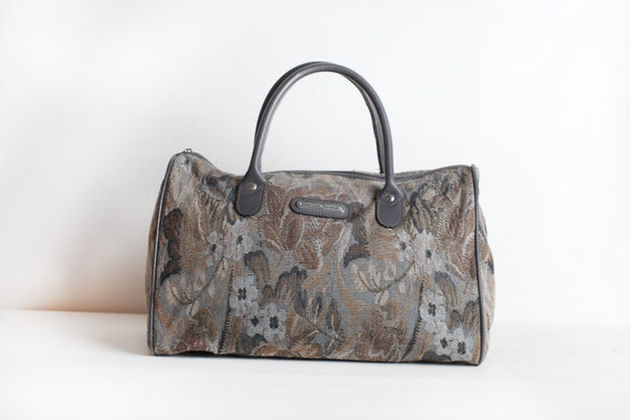 Large Floral Tapestry Duffle Bag Carry On Luggage By Doubleprints