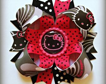 Hello Kitty stacked layered hair bow