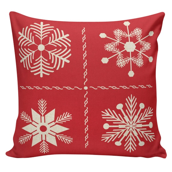 Scandinavian Christmas Pillow : Holiday Pillow Cover Swedish Scandinavian Christmas Red