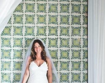 Chapel Wedding Veil  - Single Tier - Cut-edge Veil - Ivory Veil - White Veil - BEST SELLER
