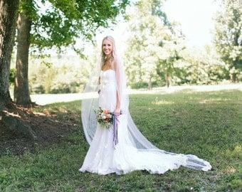 Lace Wedding Veil - Cathedral Veil - Lace Veil - Alencon Lace - BEST SELLER