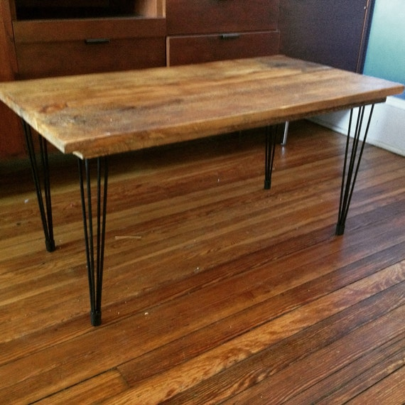 Vermont Barnwood Hand Made Coffee Table Or Side Table Steel