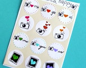 Camera Happy Stickers- RAINBOW