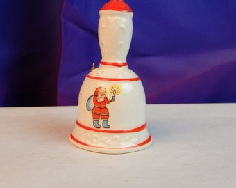 Vintage Bell - Santa Bell - Vintage Christmas Bell