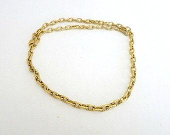 Chain Link Necklace Gold Tone Monet