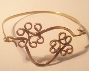 handmade curly bracelet