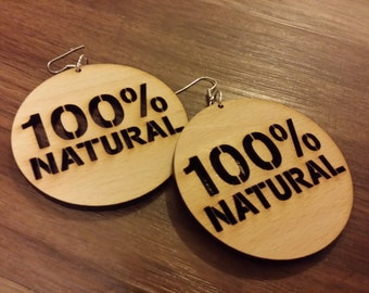 100% Natural Wooden Earrings