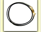 14 to 24 inch Black Satin Necklace Cord, Satinique Cord 1.5 mm for LIght weight pendants Gold,silver , Antique Brass  Clasp Custom