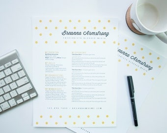 Instant Download Resume & Letterhead Template / The Breanna