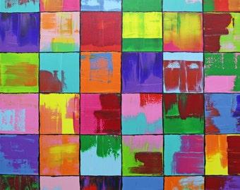 xxl abstrakt art painting 55 x 55 inch acrylic painting  ( 140 x 140 cm)