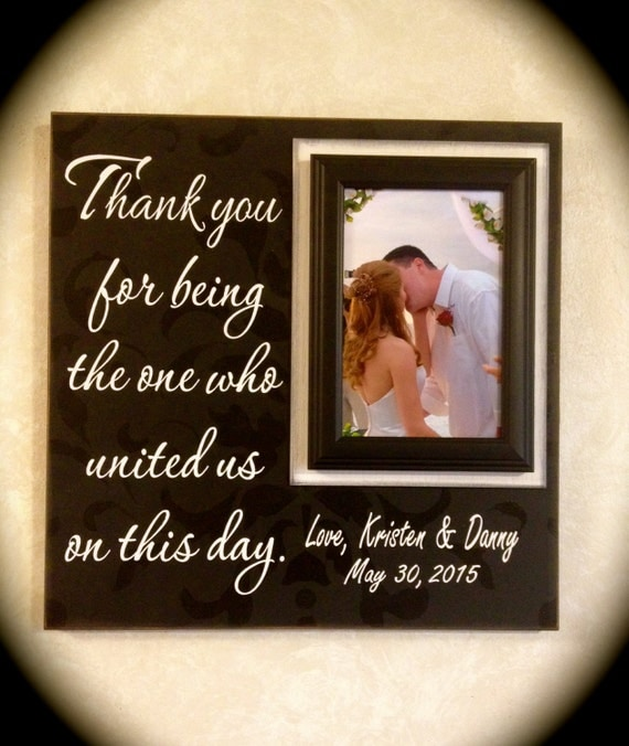 Wedding Officiant Gift ~ Custom Wedding Frame ~ Thank You Gift ~ Thank ...