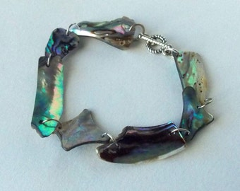 Abstract Mother of Pearl Shell Bracelet