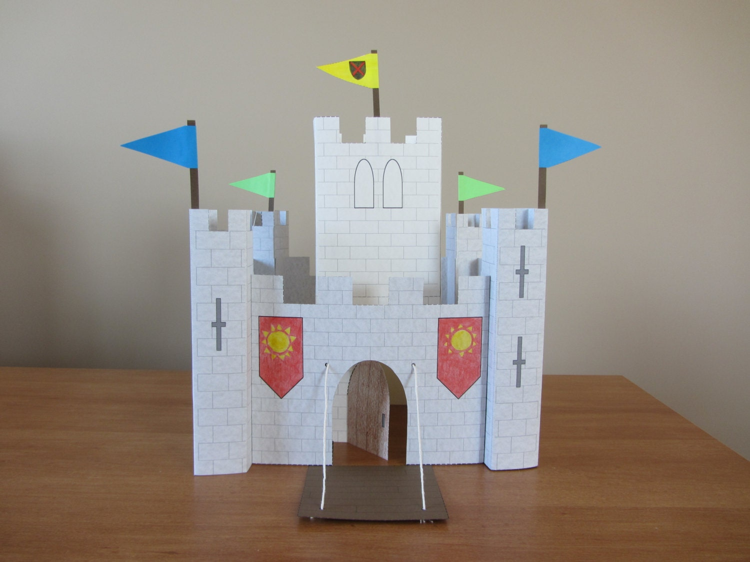 Part 2 of paper castle instant download template for keep and for Build a castle home