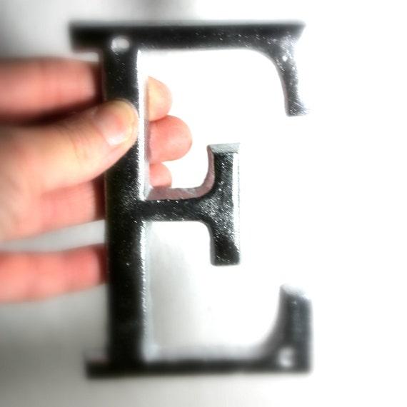 Silver Letters Home Decor: Letter E-alphabet Art E Wall Art Letter Home Decor Small