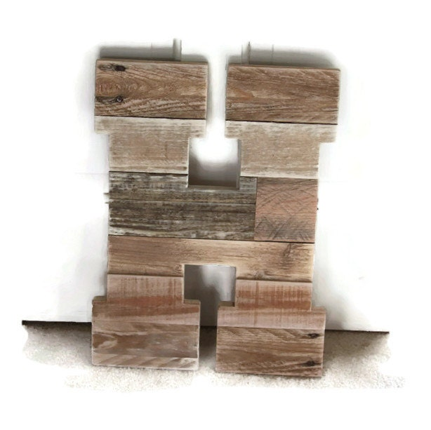 Rustic Home Decor Pallet Wood Letter Reclaimed Wood Letter
