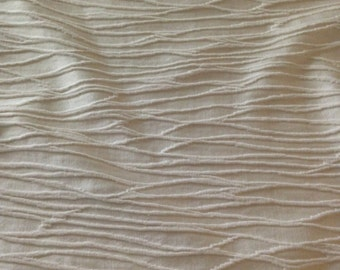 Elegant Shimmering White French Sateen Fabric - Fabric By The Yard