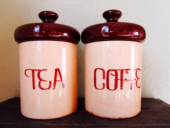 mid century canister set brown canisterceramic canister set