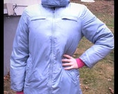 VTG J. Crew Down Parka Size M Coat powder  blue
