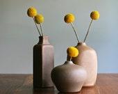 Rare vintage grouping of ikebana bud vases by Laslo for Mikasa