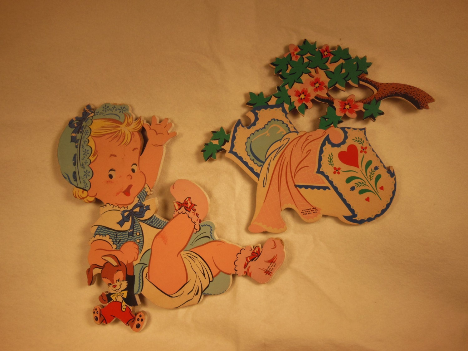 Vintage Baby Wall Decor : Vintagechildren nursery ryhme wall decor rock a bye baby in