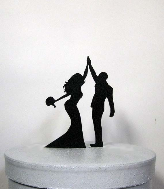 wedding cake toppers high five wedding cake topper high five 2 26493