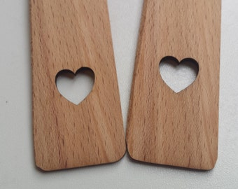 Beech bookmark with heart cut out, wooden bookmarks, love heart, valentines day, valentines gifts, love reading