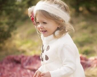 Hand Knit Angora Child's Headband
