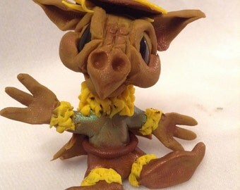 Scarecrow Draegans Dragons ooak clay art sculpture